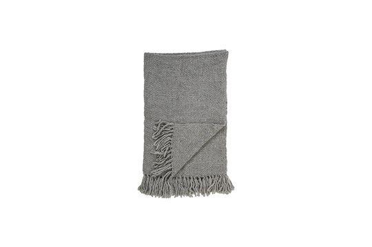 Plaid gris en laine Arthur Détouré