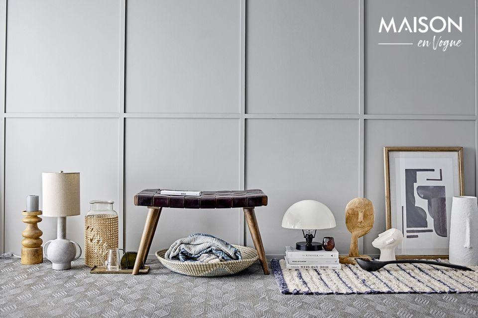 Un couvre-lit aux motifs ethniques pour une ambiance chaleureuse