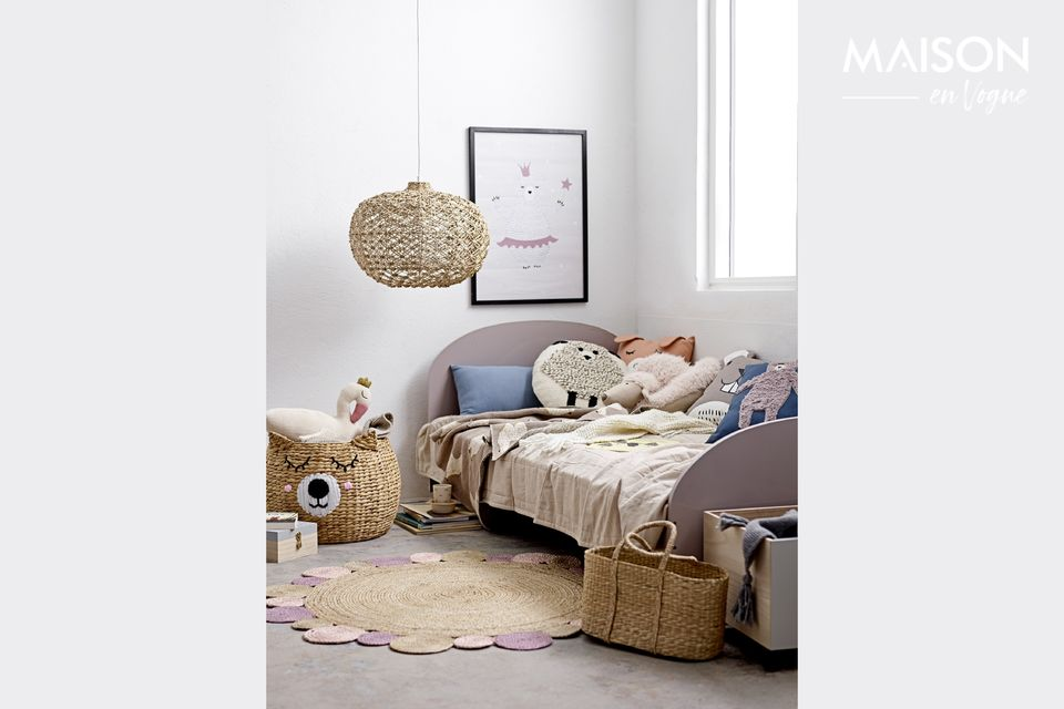 Aussi agréable en guise de couvre-lit que jeté sur un canapé