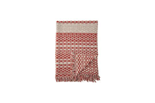 Plaid Noilhan en coton rouge recyclé Détouré