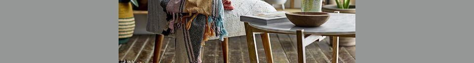 Mise en avant matière Plaid Osches en coton