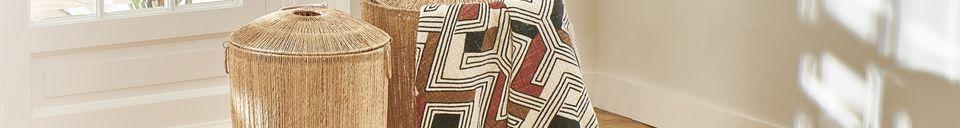Mise en avant matière Plaid Toudou Rayé en Coton 160 x 130 Multicolore