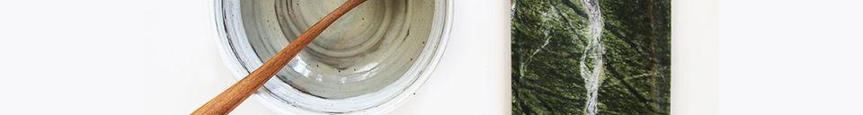 Mise en avant matière Plateau en marbre vert Ortaffa