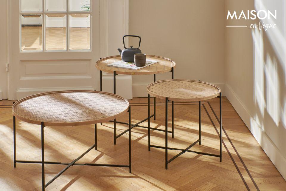 Son design conserve le charme naturel du bambou dans un style raffiné et très authentique
