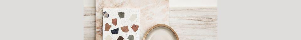 Mise en avant matière Plateau Tauxigny en marbre et terrazzo