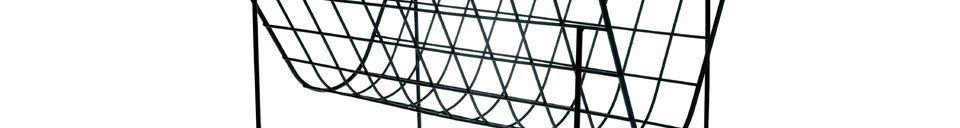 Mise en avant matière Porte-revue en fil métallique Eysson