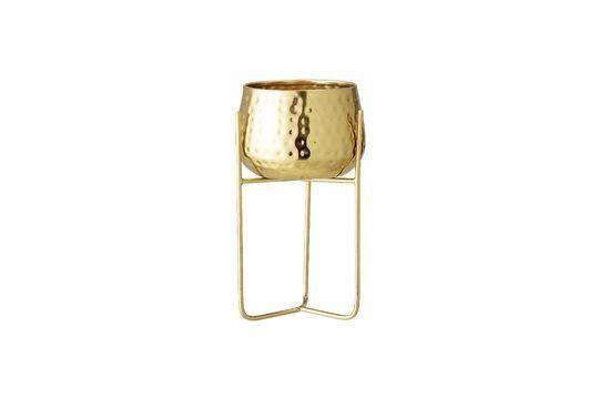 Pot de fleur Monthaut en métal doré Détouré