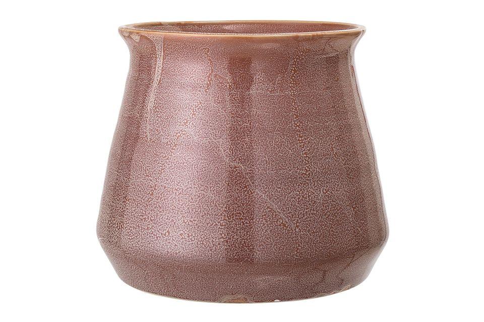 Pot Haucourt en grès marron Bloomingville