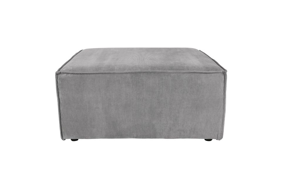 Pouf James Rib gris froid Zuiver