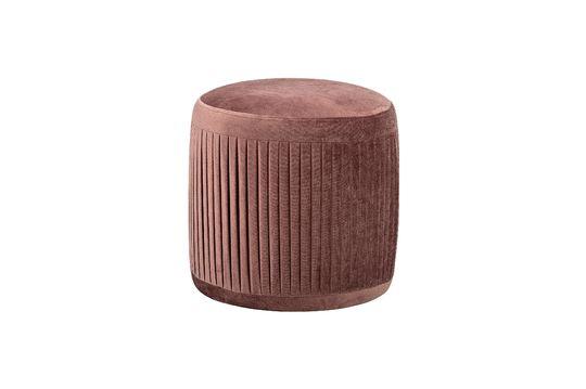 Pouf plissé Pleat rose en polyester Détouré