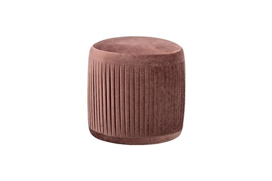 Pouf plissé Pleat rose en polyester