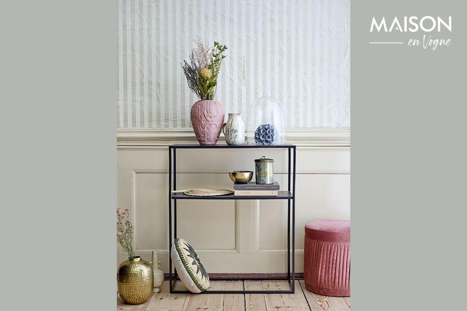 Un pouf sophistiqué et confortable au design vintage