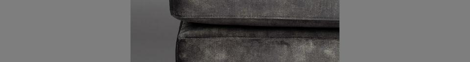Mise en avant matière Repose-pied Houda coloris anthracite