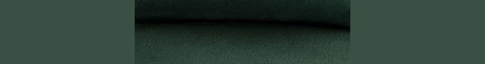 Mise en avant matière Repose-pieds Bar en velours vert