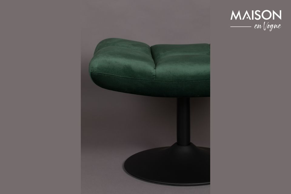 Ce matériau rend l\'assise agréable pour les yeux et au toucher