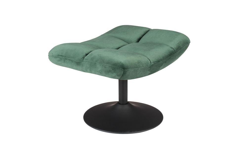 Repose-pieds Bar en velours vert Dutch Bone