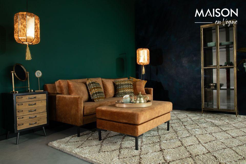 Devant un canapé ou en complément d\'assises pour animer un salon