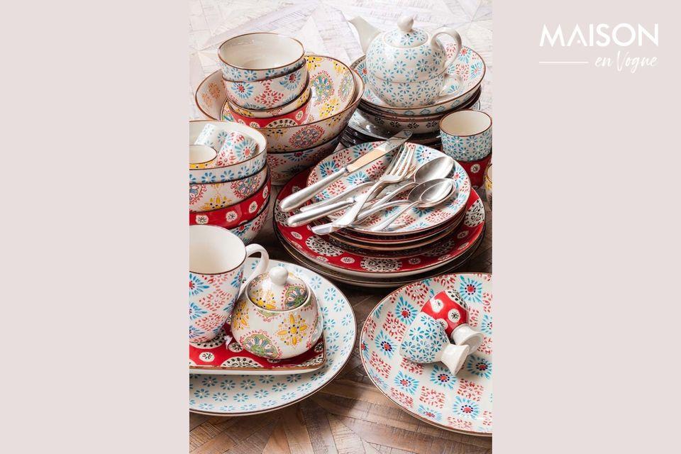 Adorable service à thé individuel en céramique