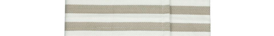 Mise en avant matière Set de 2 Chemins de table beiges Tizia