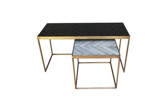 Set de 2 tables basses Métro en céramique et métal
