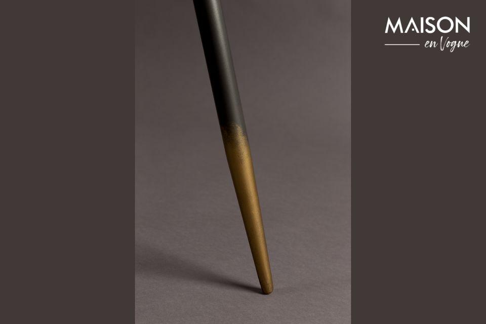 Le plateau est en fer laqué gris de 40 ou 45cm selon la table