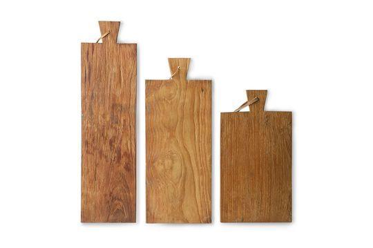 Set de 3 planches à pain Passel en teck Détouré