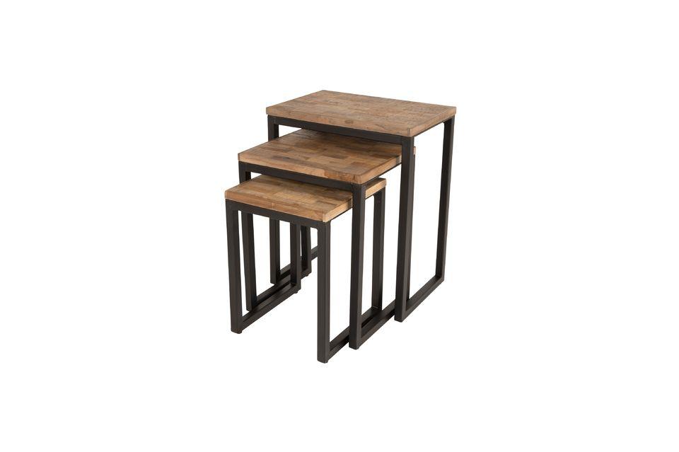 Set de 3 tables d'appoint Suri - 5
