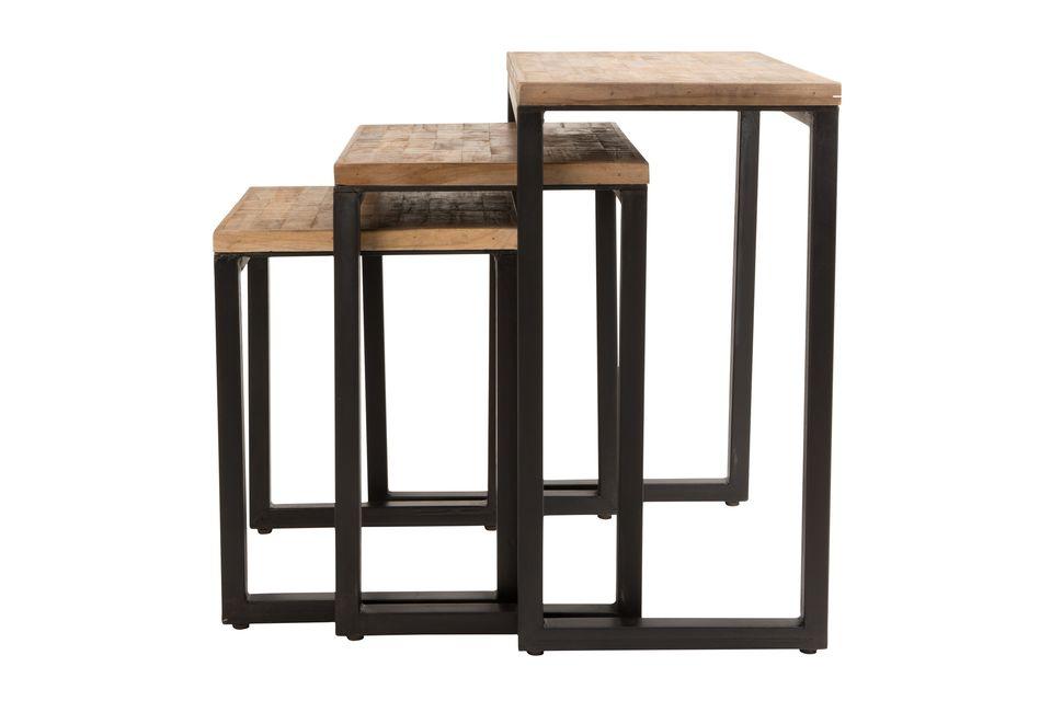 Set de 3 tables d'appoint Suri - 6