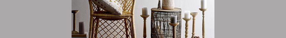 Mise en avant matière Set de 3 tables d'appoint Vrocourt en bambou