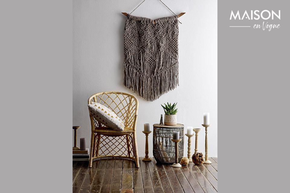 Set de 3 tables d'appoint Vrocourt en bambou