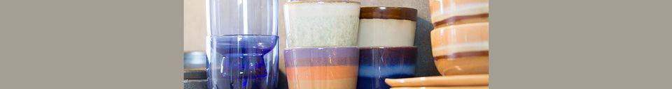 Mise en avant matière Set de 4 bols en céramique 70's moyens