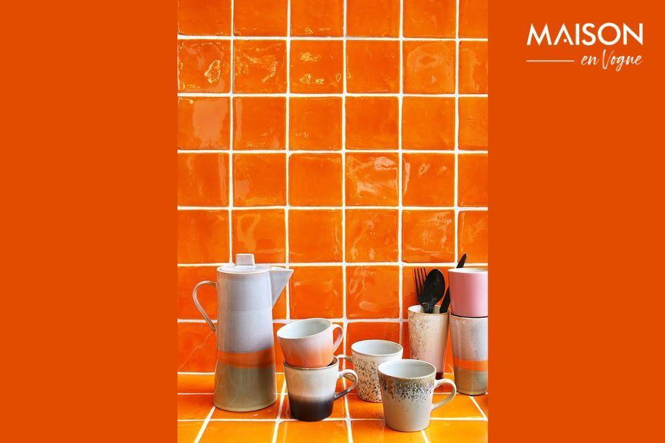 Un ensemble de 4 mugs Americano aux teintes assorties