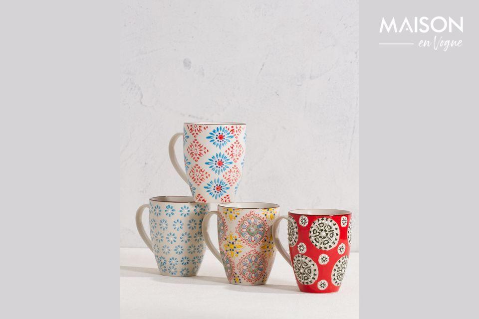 Set de 4 mugs Bohemian Chehoma