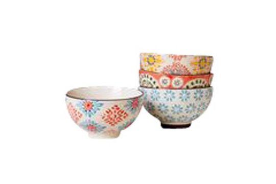 Set de 4 petits bols en céramique Bohemian