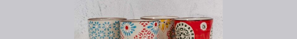 Mise en avant matière Set de 4 tasses à expresso Bohemian