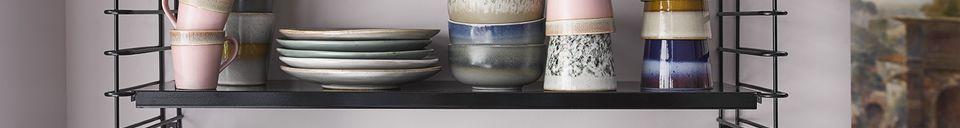 Mise en avant matière Set de 6 mugs en céramique 70's