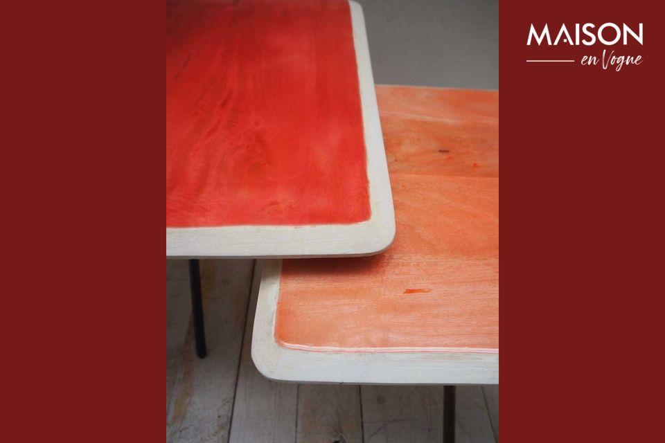 Lot de deux tables tendance art déco
