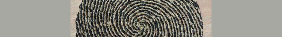 Mise en avant matière Set de table Laveyron spirale en jonc de mer naturel