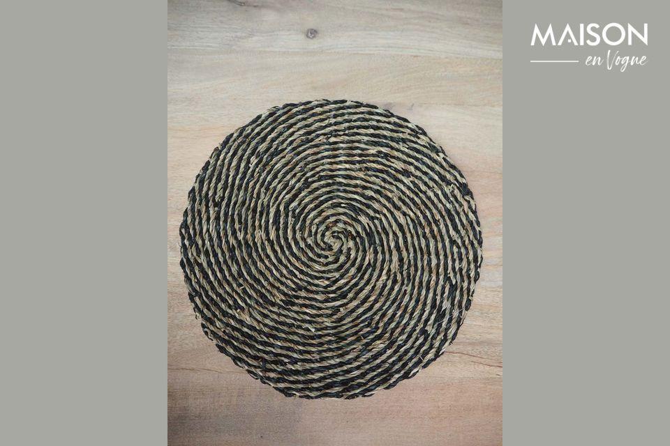 Set de table Laveyron spirale en jonc de mer naturel