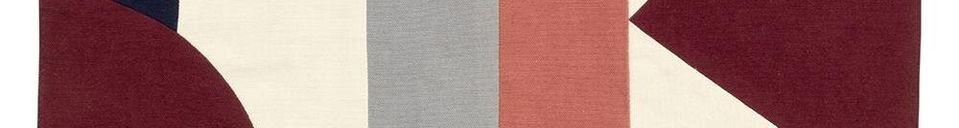 Mise en avant matière Set de table Patchwork 33 x 48 cm en coton rose