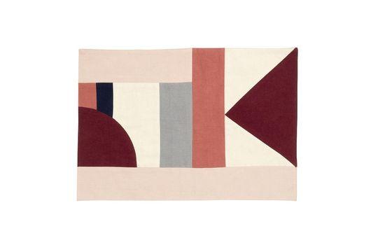 Set de table Patchwork 33 x 48 cm en coton rose Détouré