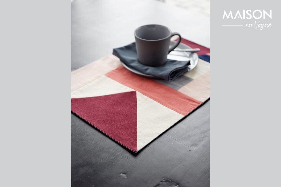 Set de table Patchwork 33 x 48 cm en coton rose