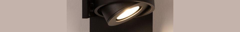 Mise en avant matière Spot Luci-1 DTW noir