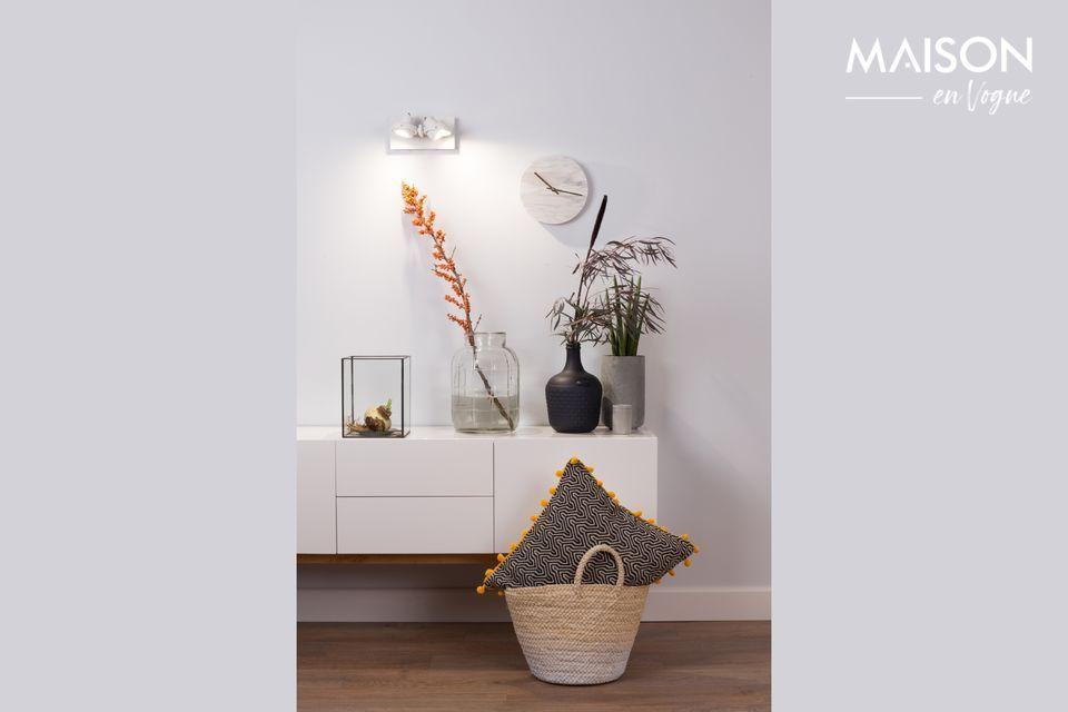 L\'éclairage est essentiel en décoration d\'intérieur et le projecteur Luci-2 Dtw blanc le prouve
