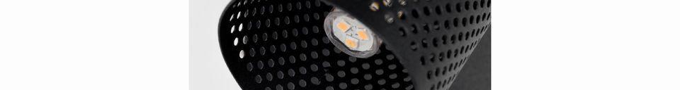 Mise en avant matière Spot lumineux Sandy-1 noir