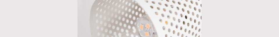 Mise en avant matière Spot lumineux Sandy-2 blanc