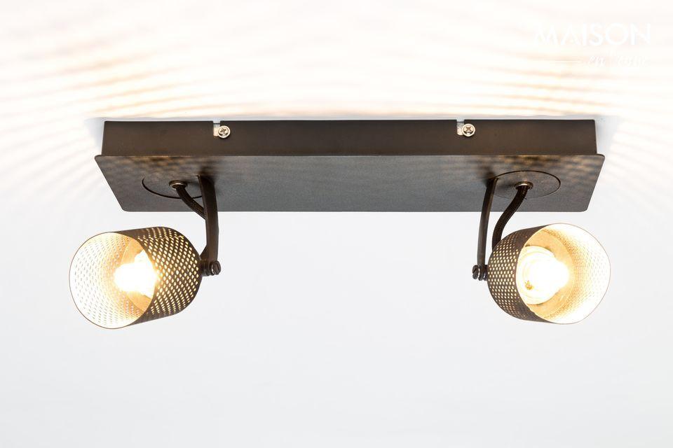 Spot lumineux Sandy-2 noir White Label