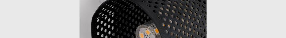 Mise en avant matière Spot lumineux Sandy-2 noir