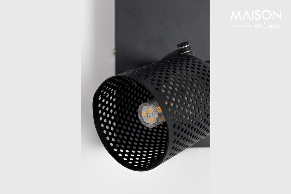 Double spot tendance à placer sur un mur ou à suspendre au plafond.