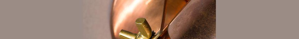 Mise en avant matière Spot lumineux Scope finition cuivre